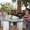 Monika, Chloe and I enjoy a lunch of Molokia. My favorite!!!