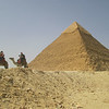 Kahfre, the middle pyramid at Giza, looks like it's capped with gold.