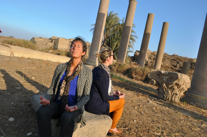 Monika and I meditate at the Temple of Thoth.
