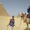 A quick hello to new Egyptian friends enjoying camels in their own backyard. Lucky.
