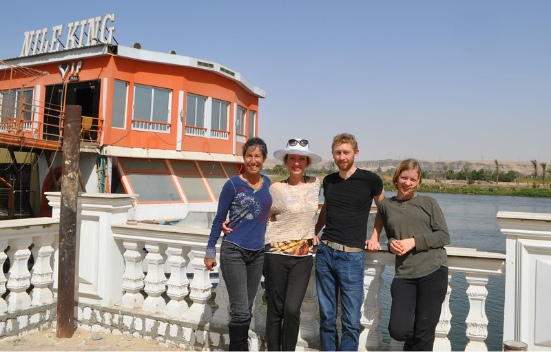 Soaking up the Nile after lunching at the Horus Resort.