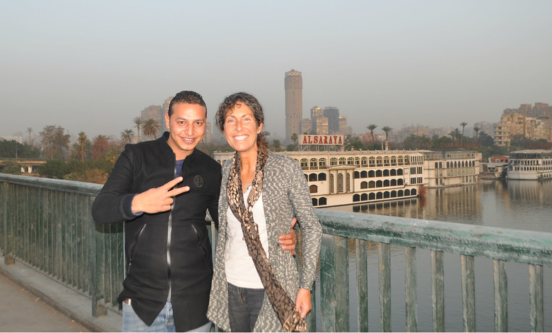 Said, my taxi driver upon arrival, stops traffic so we can get a picture with the Nile. My favorite river in the world.