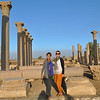 Here with Monika at the Temple of Thoth, god of wisdom, in Hermopolis.