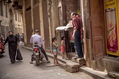 Street scene in Old Jewish Cairo