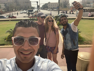 Egyptians taking selfies with us
