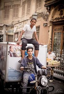 Street scene near Old Jewish Cairo