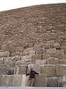 Kat in front of The Great Pyramid of Giza, the only one of seven ancient wonders of the world still in existence.
