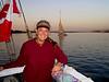 Kat enjoying a sunset while cruising the Nile.