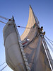 "When the sail or rigging needed some adjustment, Ali, whom I later nicknamed ""Monkey"" climbed up the mast."