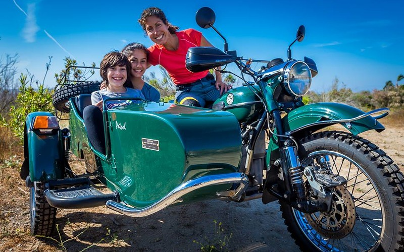 This is what my dream looks like. Taking the kids on the road in a sidecar motorcycle.