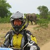 Uganda is the only country in the world to allow motorcycles in their National Parks. Elephants delight us at Queen Elizabeth National park in Uganda.