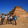 The crew at the Step Pyramid