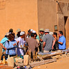 Vendors greet our tour outside the Mastaba tombs