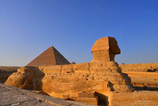 Pyramid of Khufu  and Great Sphinx of Giza