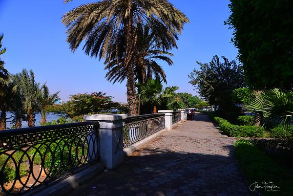 Along the Nile.