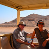 Dave and Mans on the short tram ride to the Temple of Hatshepsut