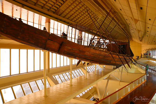 Khufu's solar boat.  The solar boat is over 43 meters long.