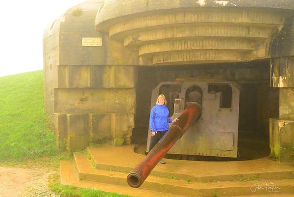 Original guns in the German Battery at Longues sur Mer