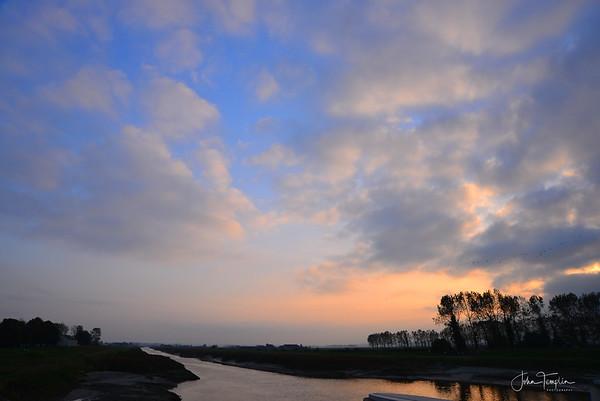 Sunset  Mont Saint-Michel