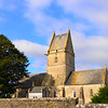 12th Century church in the tiny hamlet of Angoville-au-Plain<br /> <br /> Two American Medics, Bob Wright and Ken Moore, set up a field hospital here and treated wounded soldiers from the D-Day landings.  We saw the blood stained pews and commemorative stained glass windows.