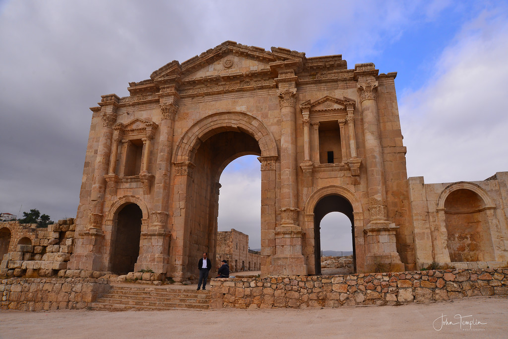 The monumental South Gate of Jerash