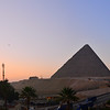 Pyramid sunrise panorama