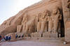 The restored ruins of the Abu Simbel temples on Lake Nassar in Nubia, southern Egypt.