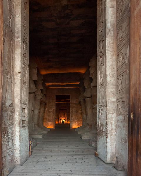 Inside of Nefertari Temple