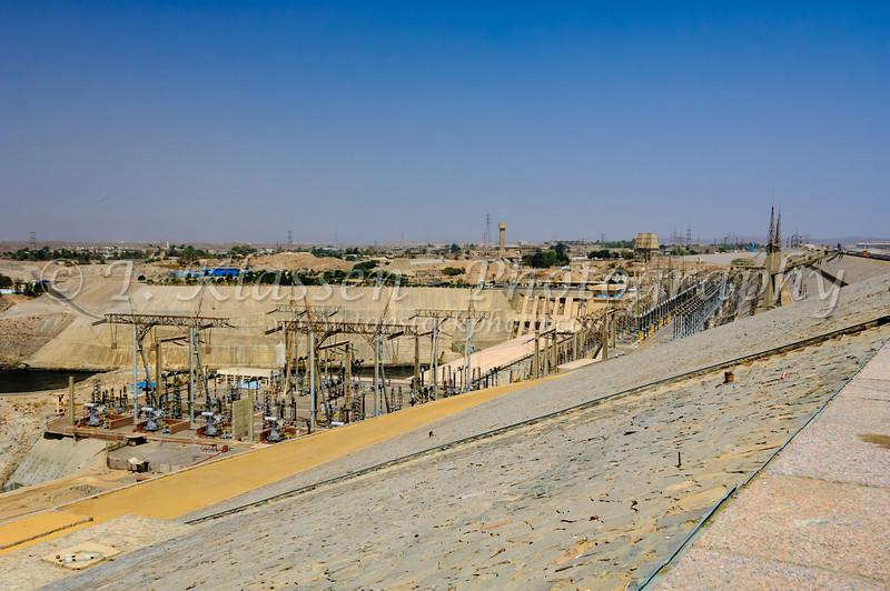 The Aswan High Dam and Visitor's Center in Upper Egypt near Aswan.