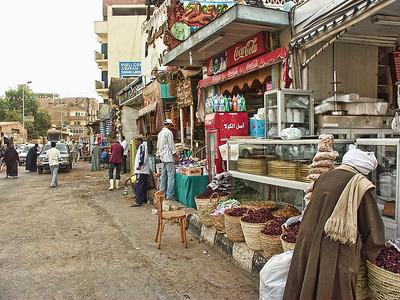 Market shops in Aswan