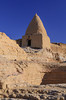 The beehive shaped home of the former Imam of the mosque in Bawiti, Egypt.