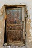 An old door in the village of Bawiti, Egypt.
