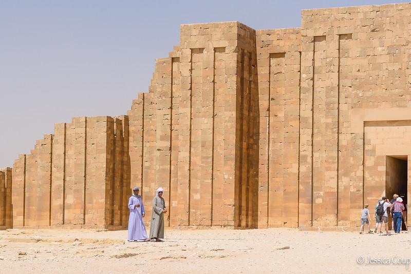 Entering Saqqara