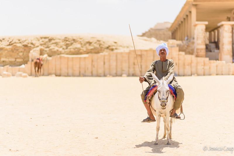 Guard and Beggar of Tips at Saqqara