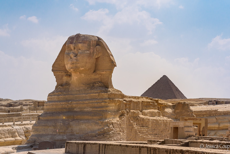 The Great Sphinx and the Great Pyramid