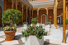 The main entrance courtyard of the Cairo Marriott Hotel, Egypt.