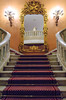 A grand staircase and interior decor of the Cairo Marriott Hotel, Egypt.