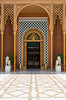 Doors at the main entrance courtyard of the Cairo Marriott Hotel, Egypt.