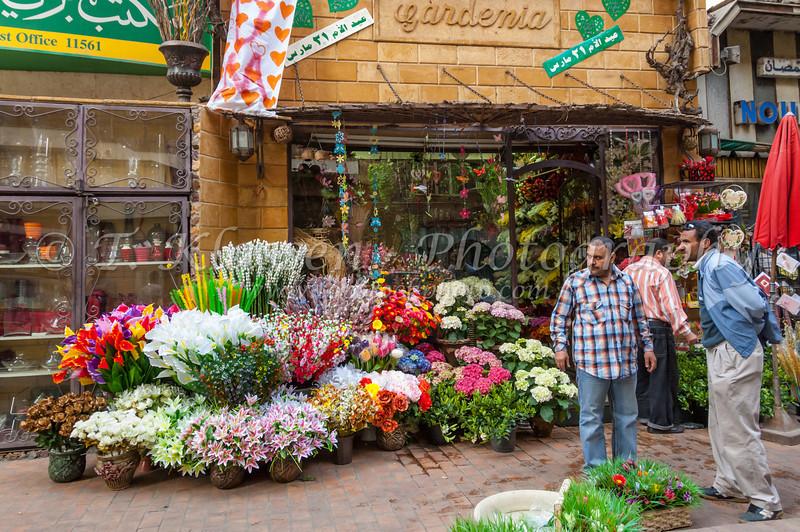 The Gardenia Flower Shop In Zamalek District Of Cairo, Egypt.