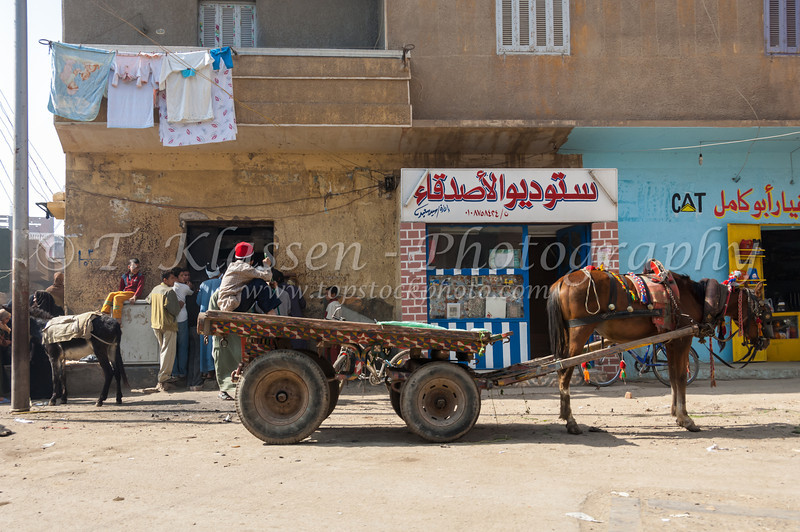 Street scenes in the village of Dashur, Egypt.