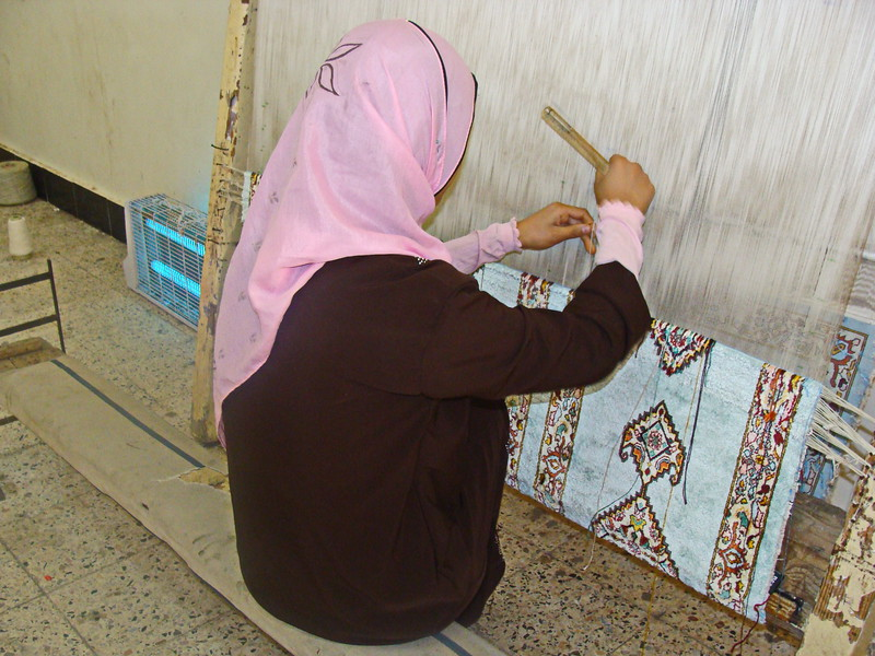 Carpet Weaving on the Loom