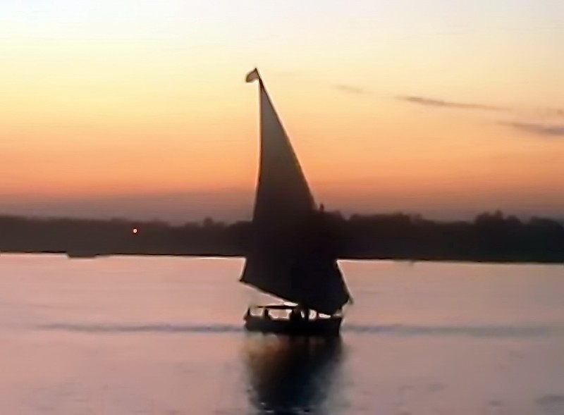 Felucca at Sunset