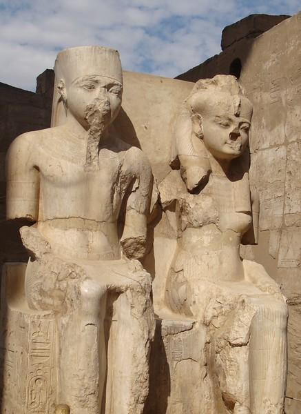 King Tut and His Wife Ankhesenamun