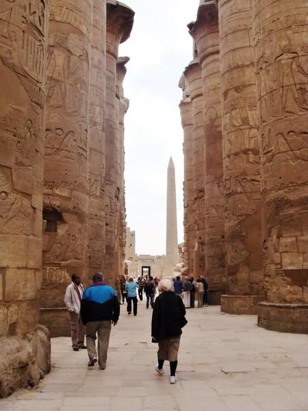 Hypostyle Hall, Hall, Collonade and Obelisck of Hatshepsut, and Hieroglyphes,