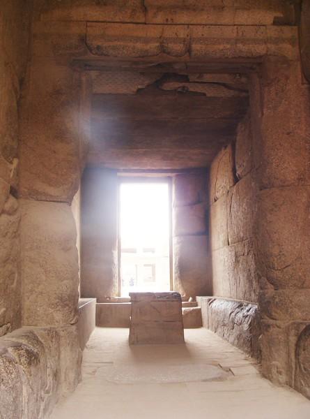 Doorway to Closed Papyrus Column