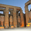 Colossal Statues of Ramses II at the ancient Luxor Temple in Egypt