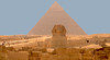 The Sphinx and the pyramid of King Khephren