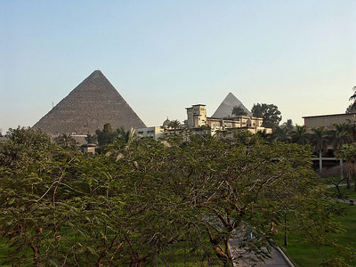 The pyramids from our hotel