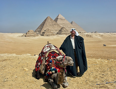 With my camel exploring the Pyramids in Egypt