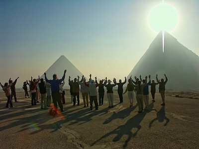 In awe of the Sun splitting the Great Pyramid